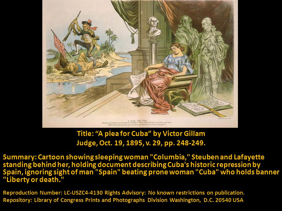 Title: A plea for Cuba by Victor Gillam