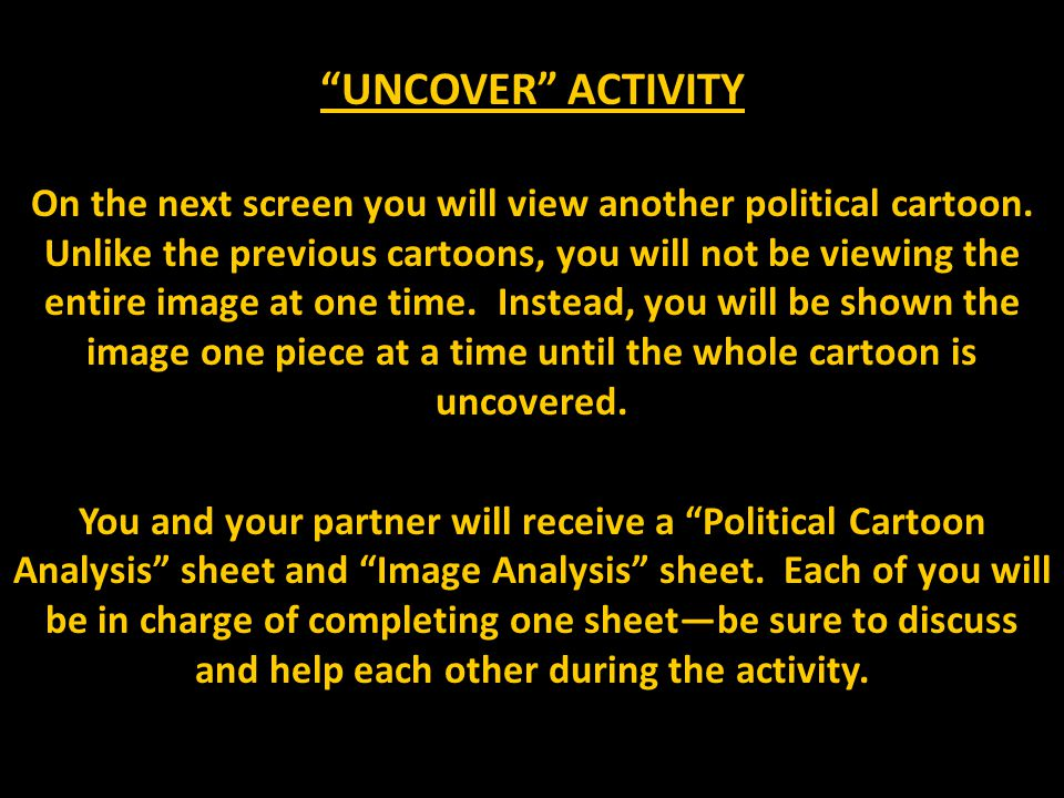 UNCOVER ACTIVITY