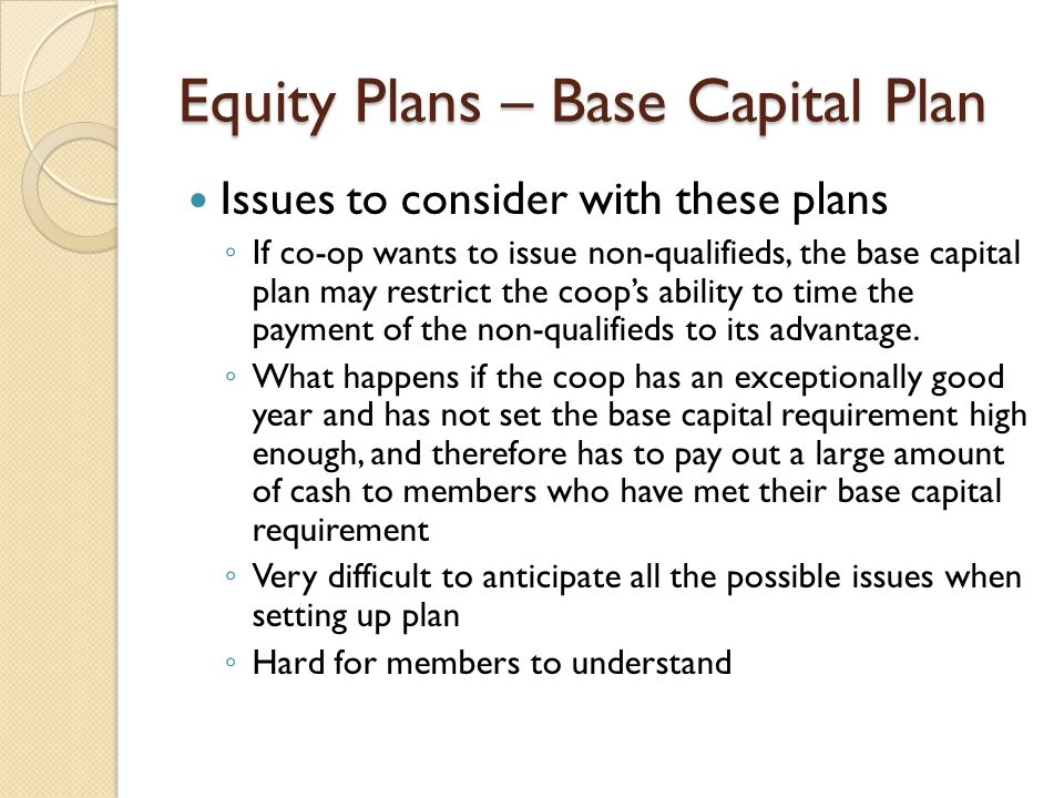 Equity Plans – Base Capital Plan