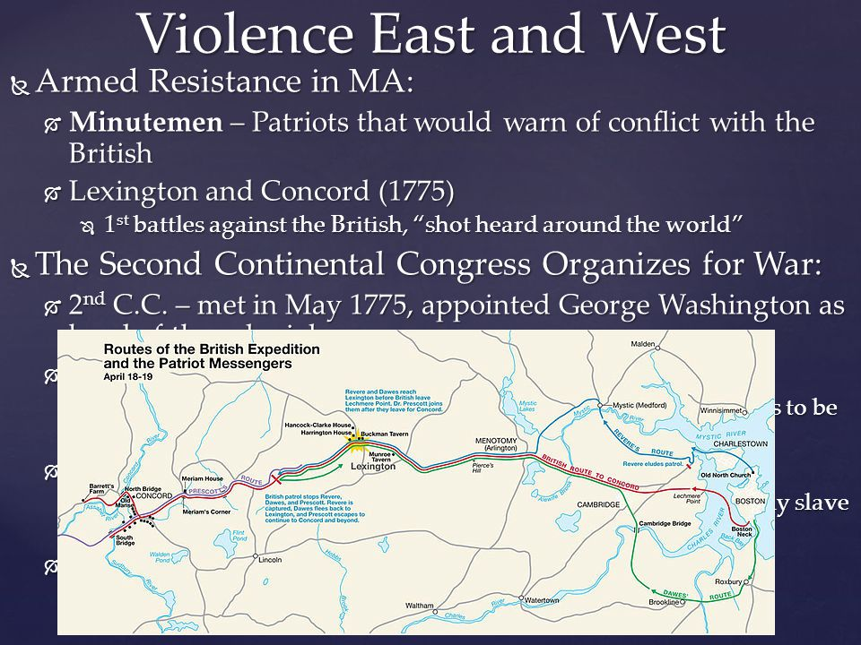 Violence East and West Armed Resistance in MA: