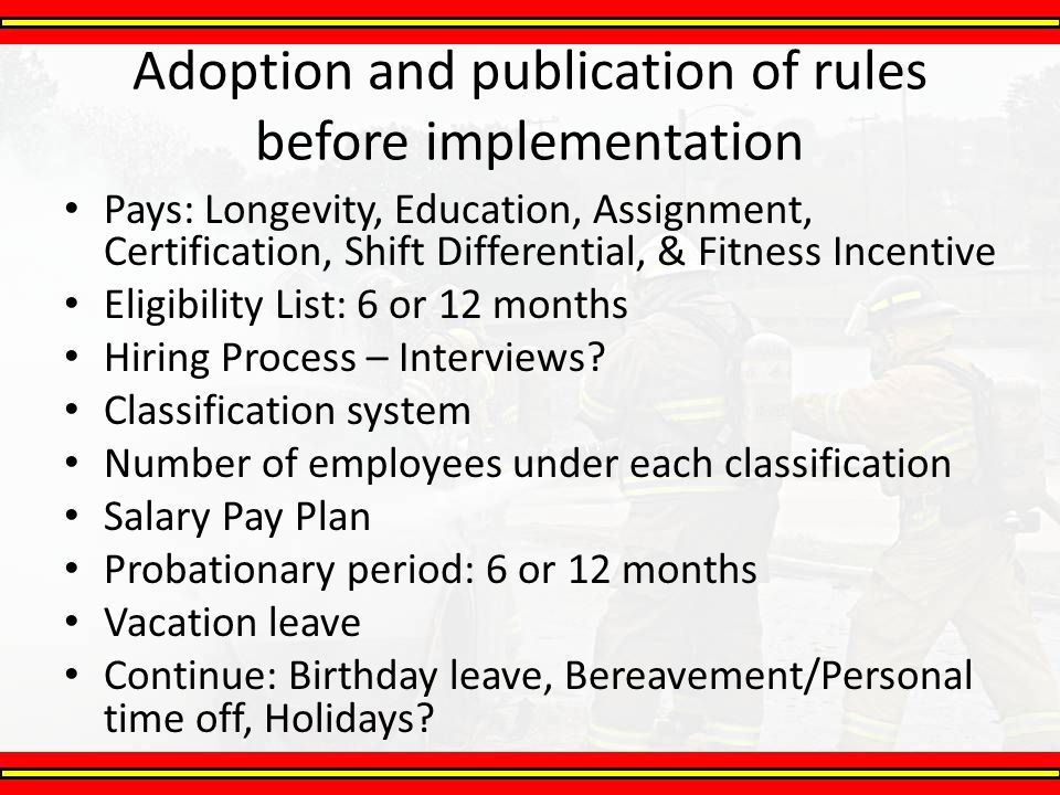 Adoption and publication of rules before implementation