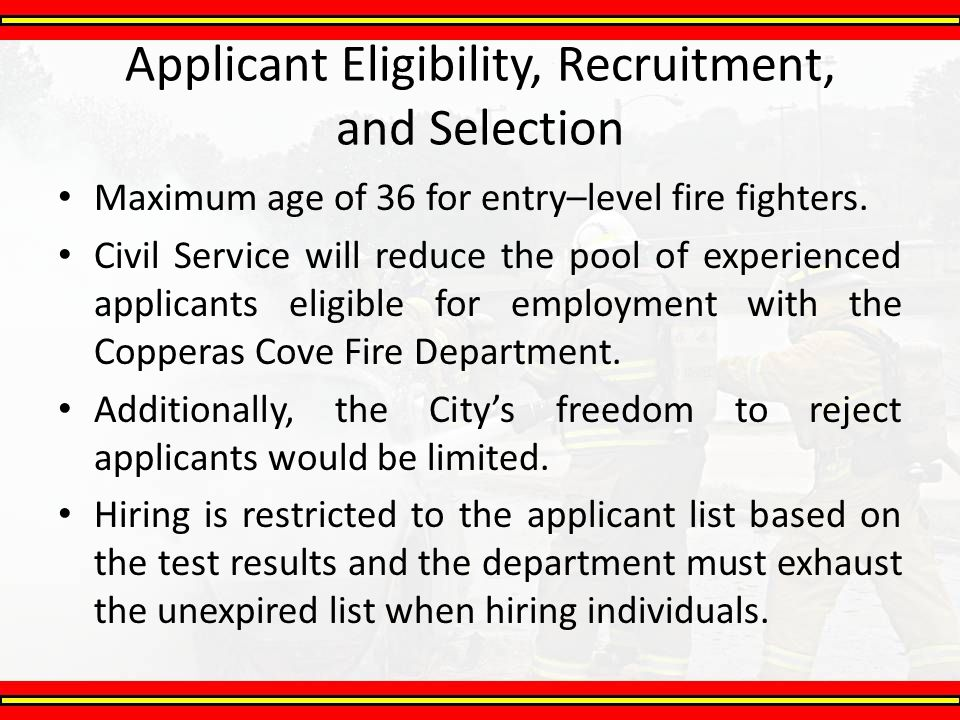 Applicant Eligibility, Recruitment, and Selection