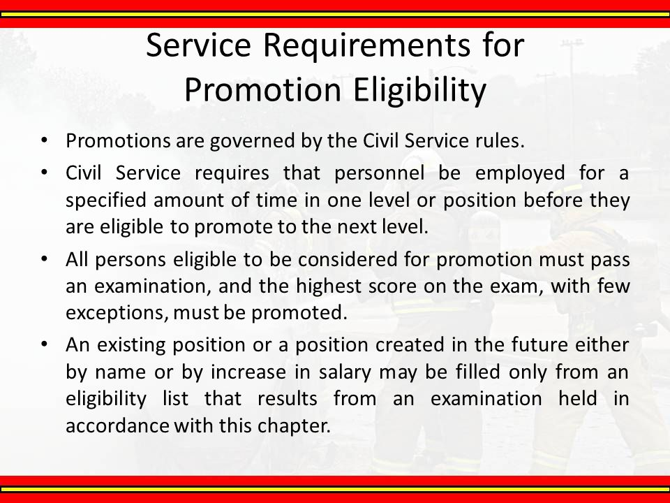 Service Requirements for Promotion Eligibility