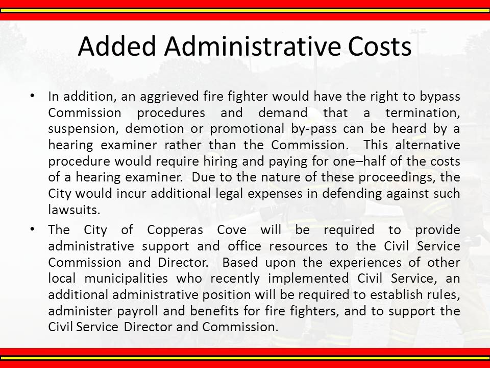 Added Administrative Costs