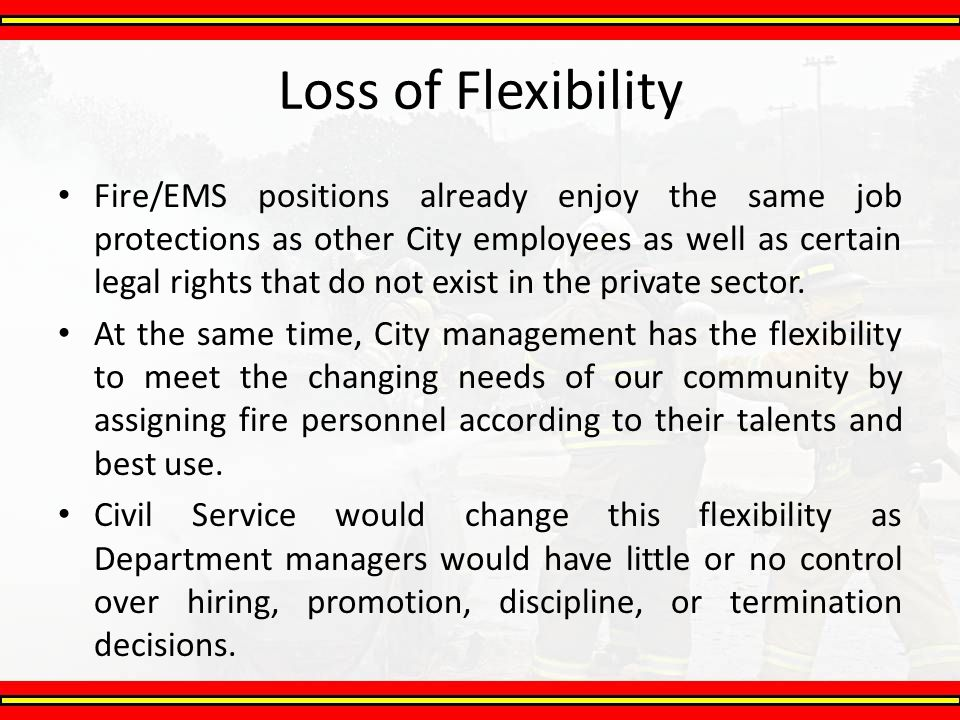 Loss of Flexibility