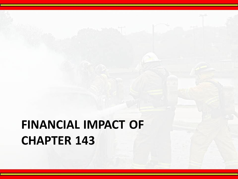 Financial Impact of Chapter 143