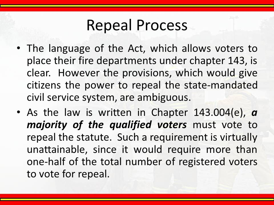 Repeal Process