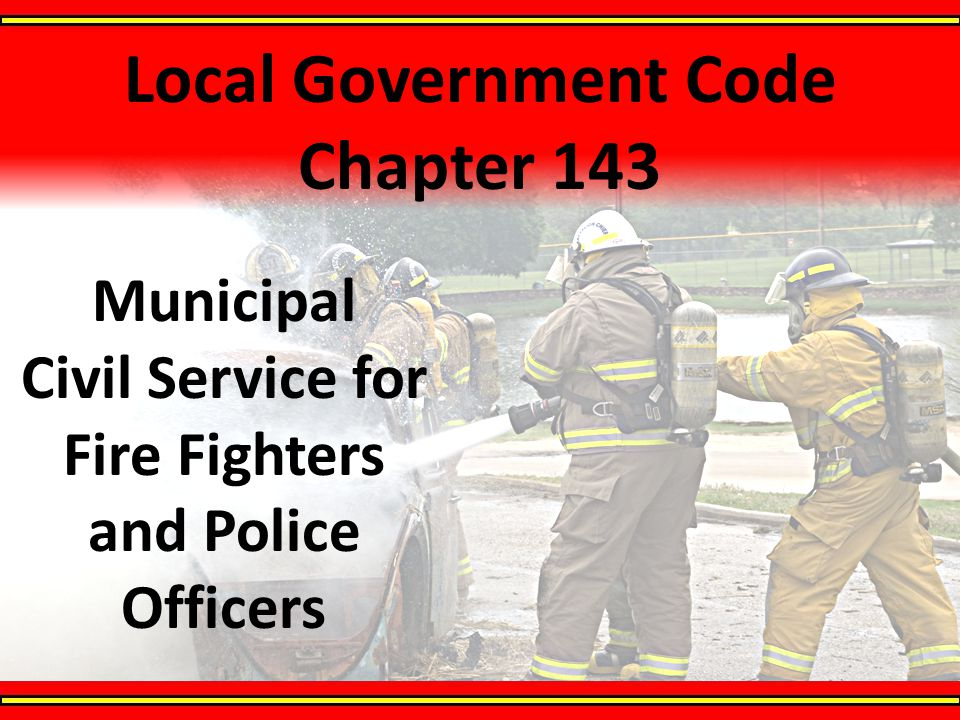 Local Government Code Chapter 143