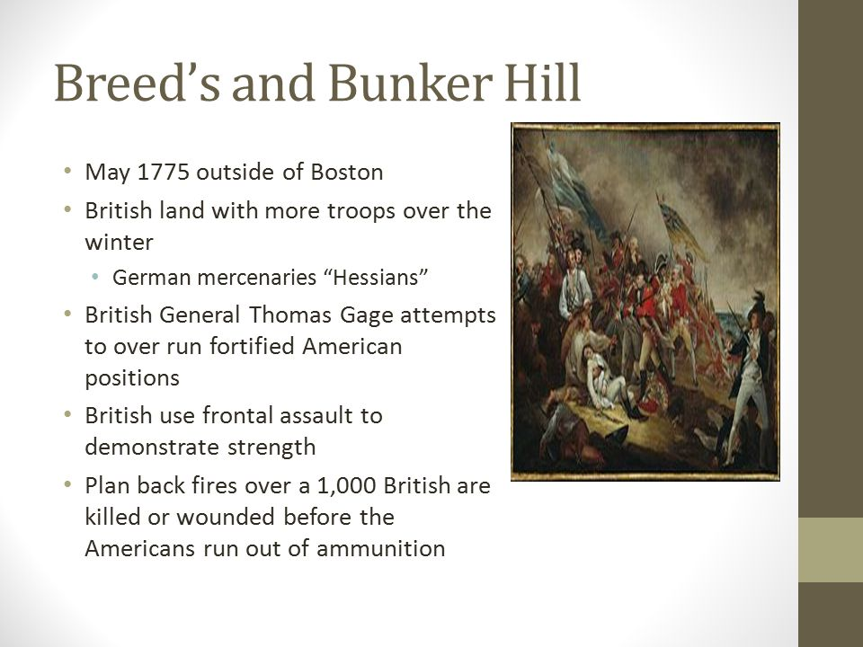Breed's and Bunker Hill