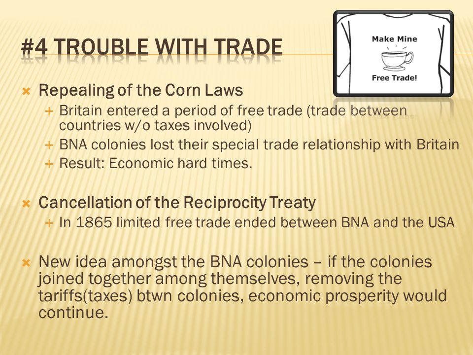 #4 TROUBLE WITH TRADE Repealing of the Corn Laws
