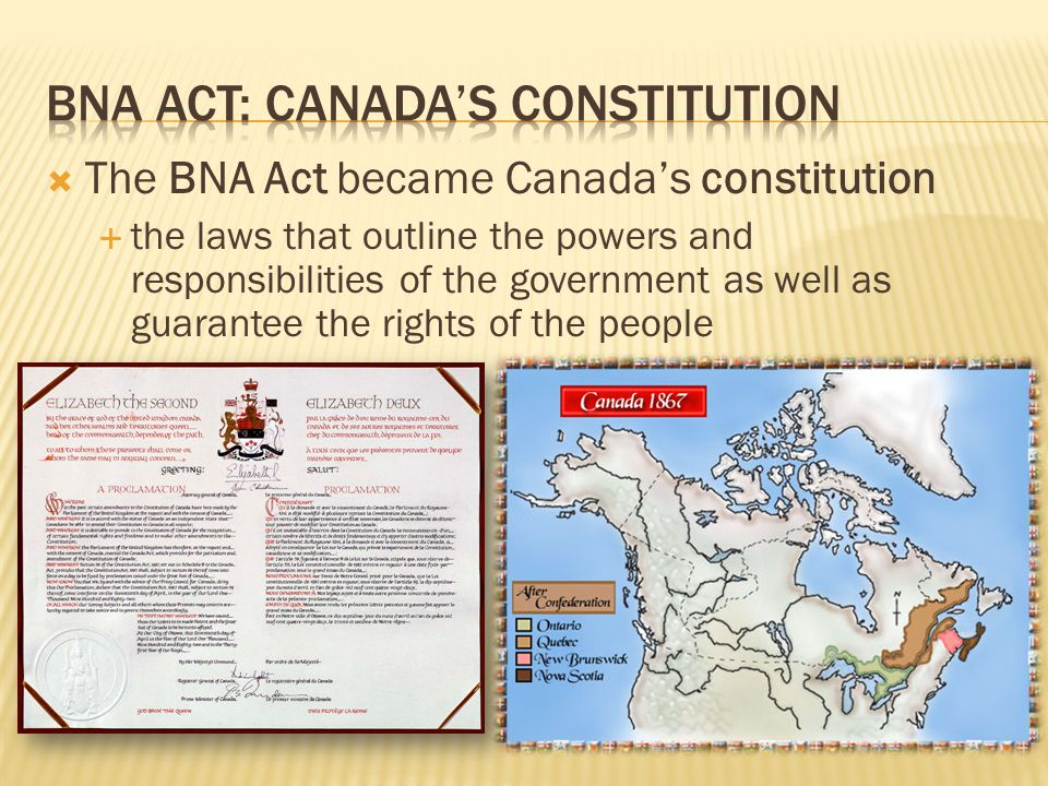 BNA ACT: Canada's constitution