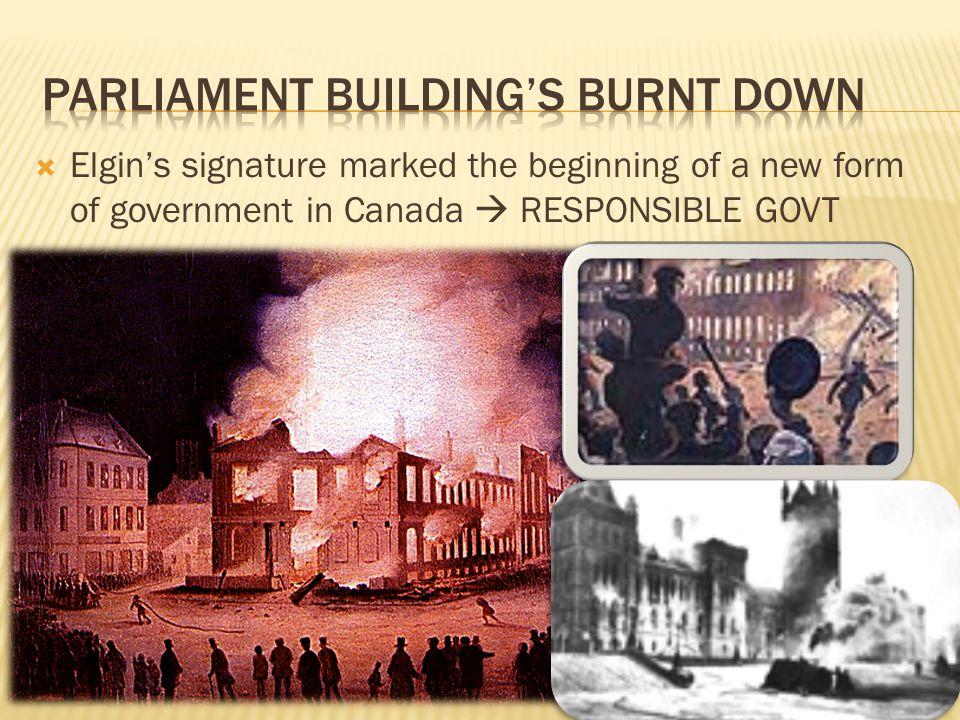 Parliament Building's Burnt Down