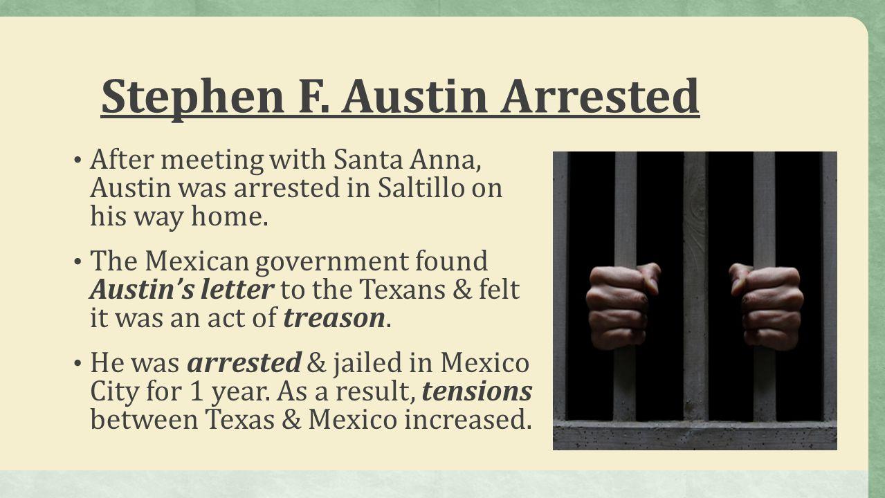 Stephen F. Austin Arrested
