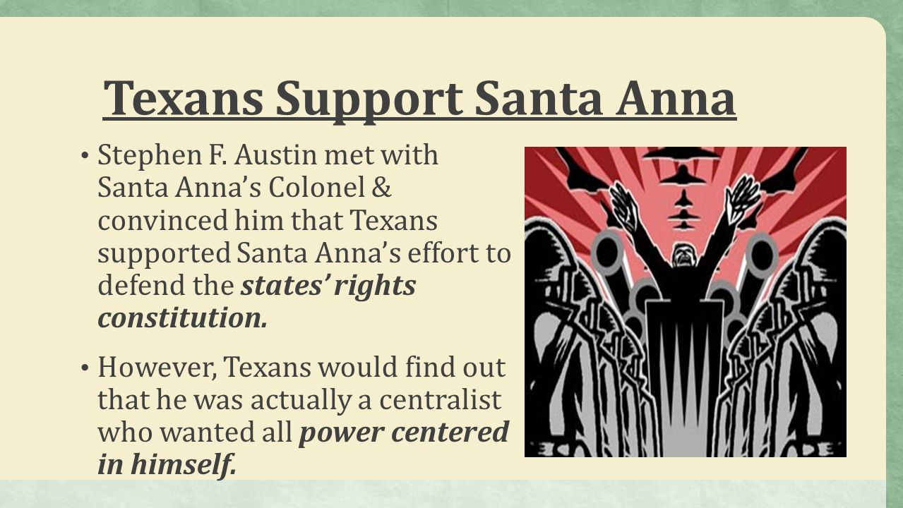 Texans Support Santa Anna
