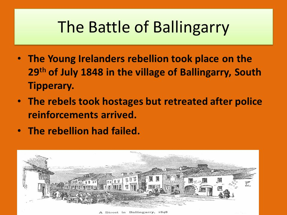 The Battle of Ballingarry