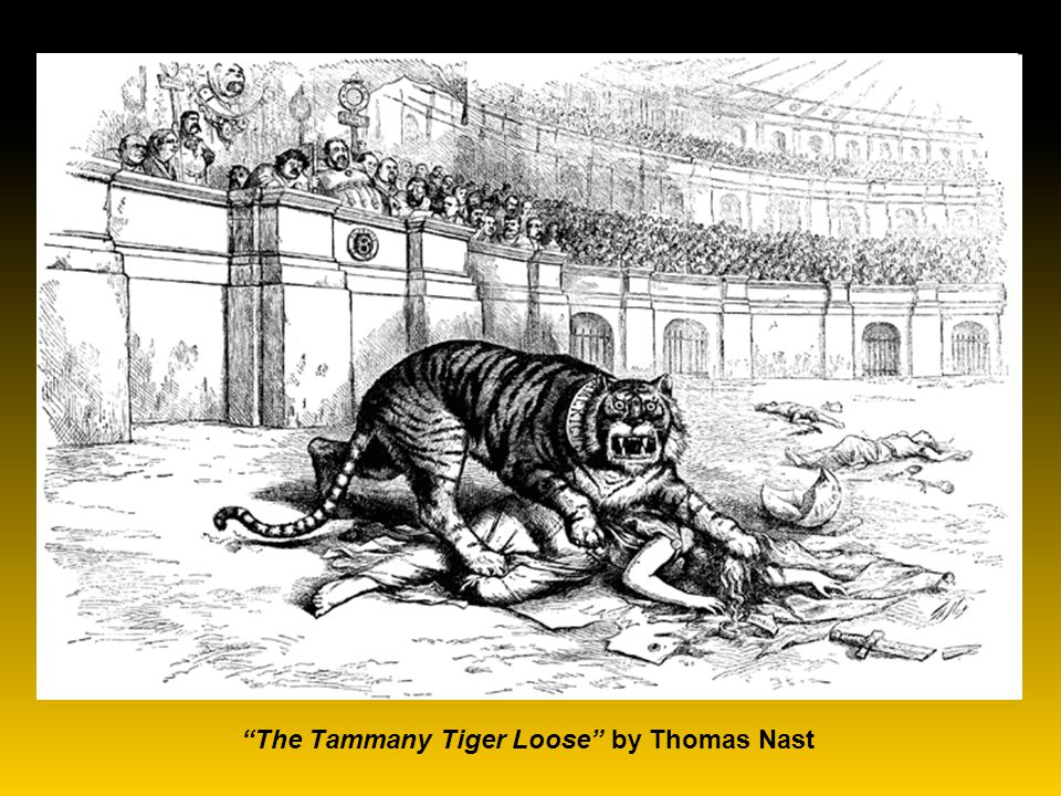 Thomas Nast - Political cartoonist for Harper's Weekly.
