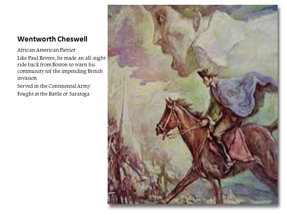 Wentworth Cheswell African American Patriot