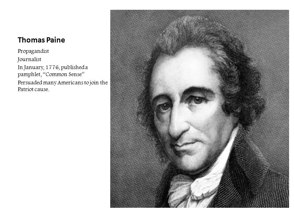 Thomas Paine Propagandist Journalist