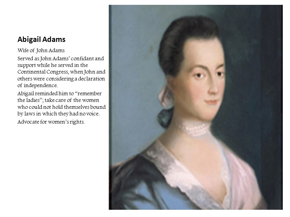 Abigail Adams Wife of John Adams