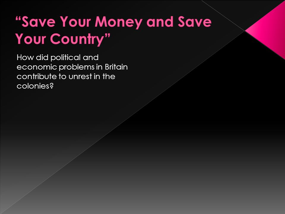 Save Your Money and Save Your Country