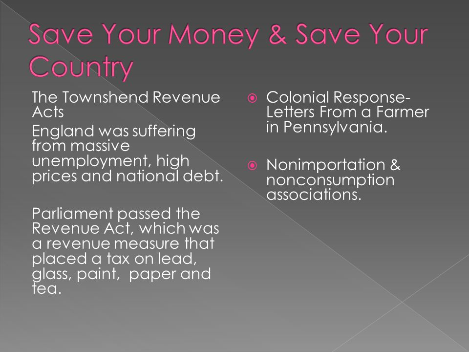 Save Your Money & Save Your Country
