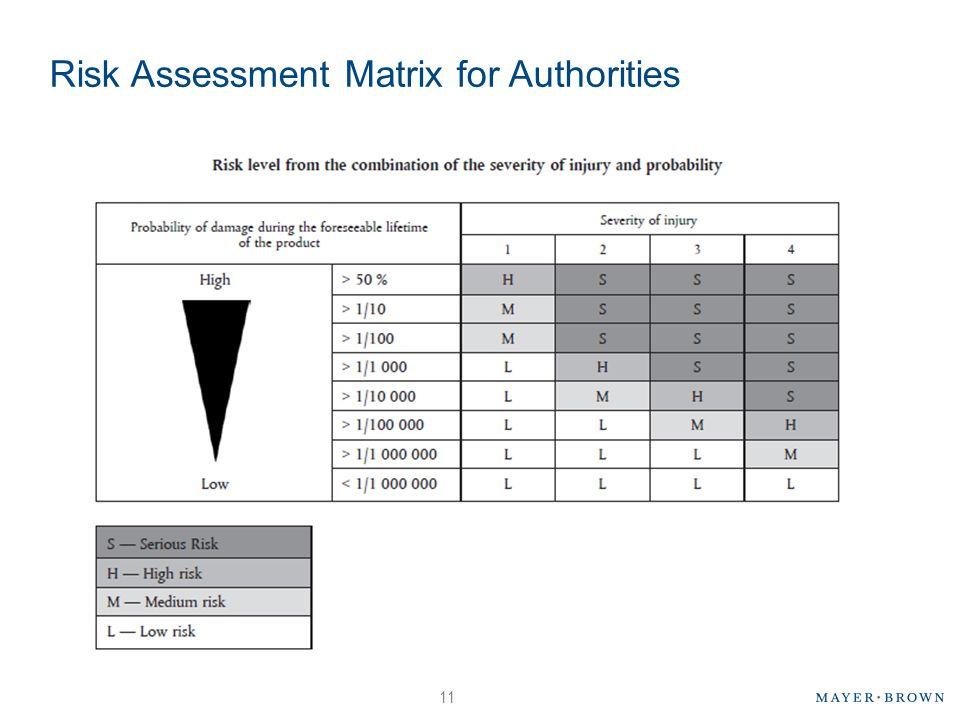 Risk Assessment Matrix for Authorities