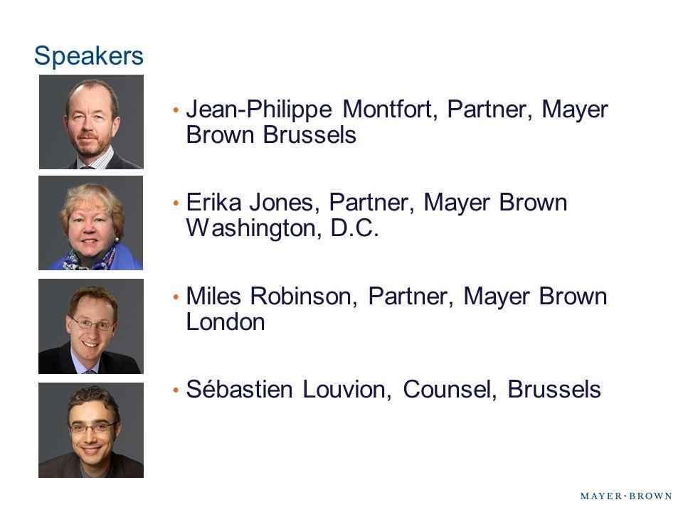 Speakers Jean-Philippe Montfort, Partner, Mayer Brown Brussels