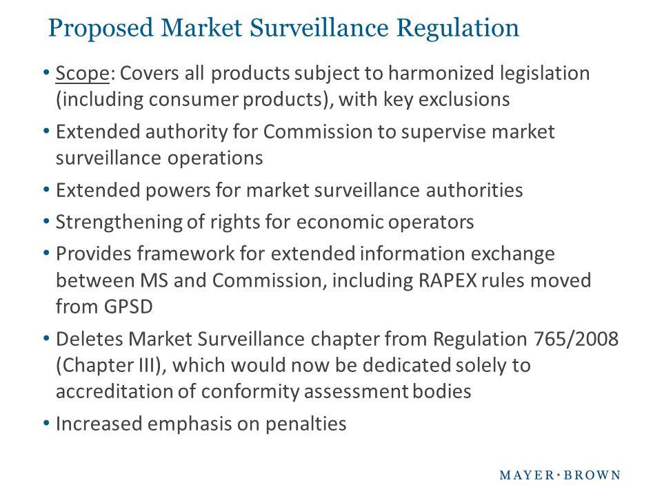 Proposed Market Surveillance Regulation