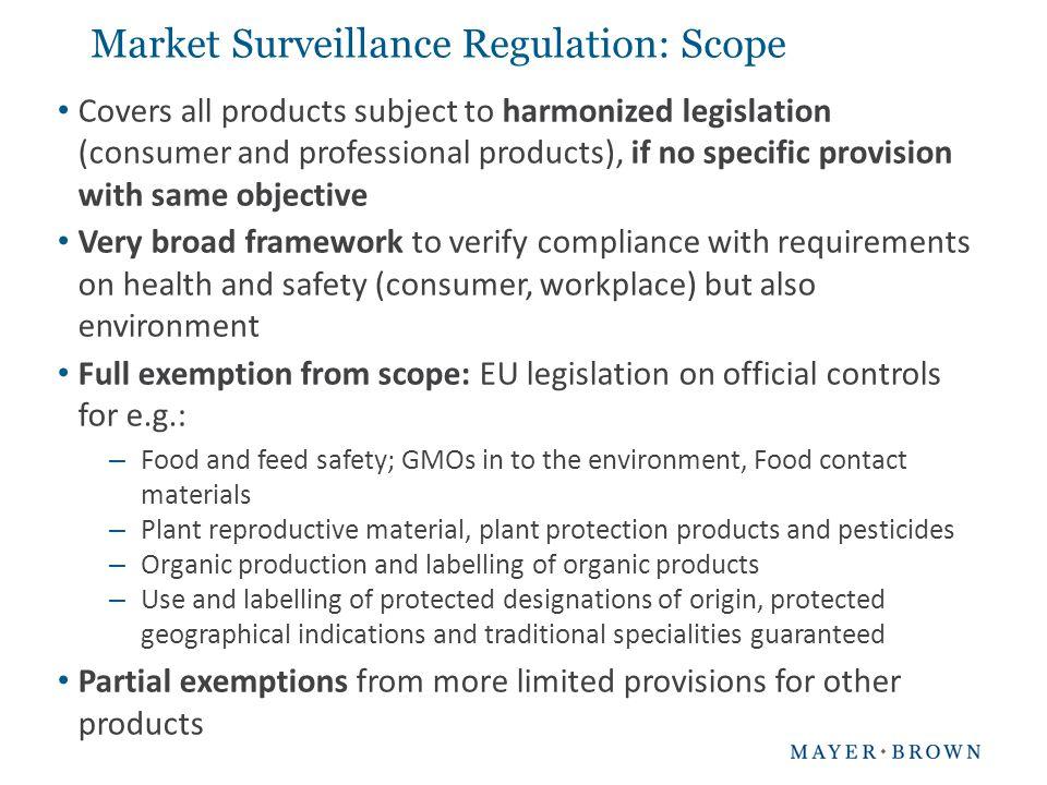 Market Surveillance Regulation: Scope