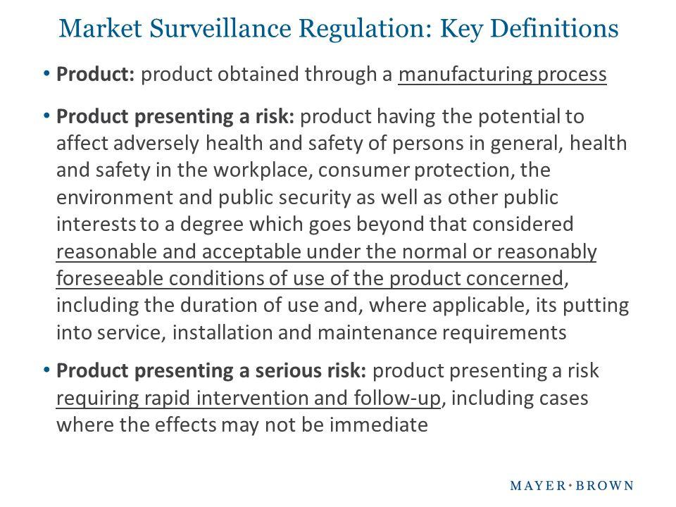 Market Surveillance Regulation: Key Definitions