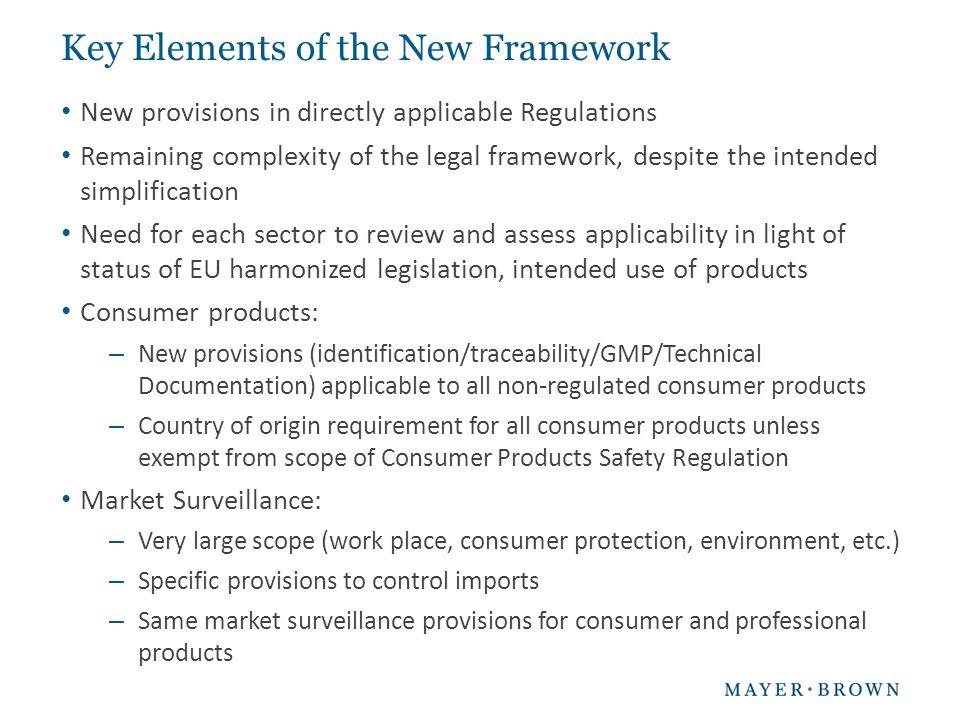 Key Elements of the New Framework
