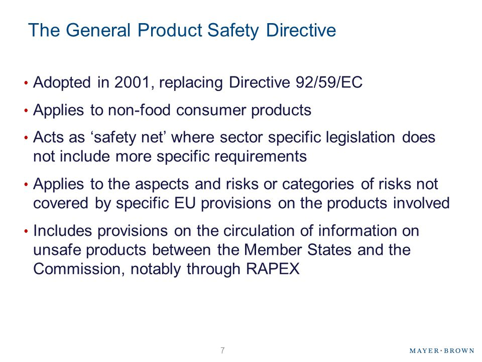 The General Product Safety Directive