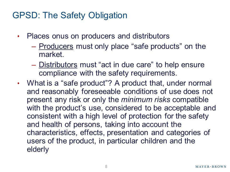 GPSD: The Safety Obligation