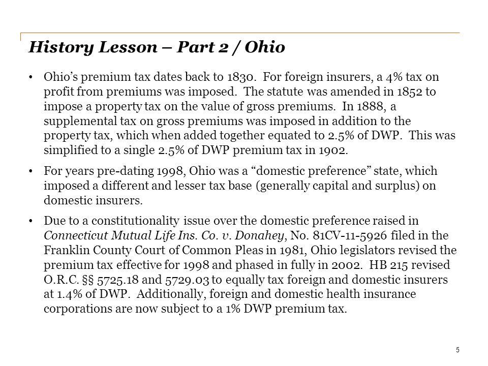 History Lesson – Part 2 / Ohio