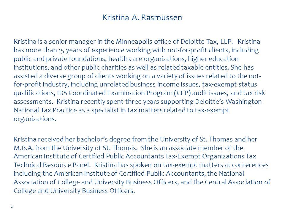 Kristina A. Rasmussen