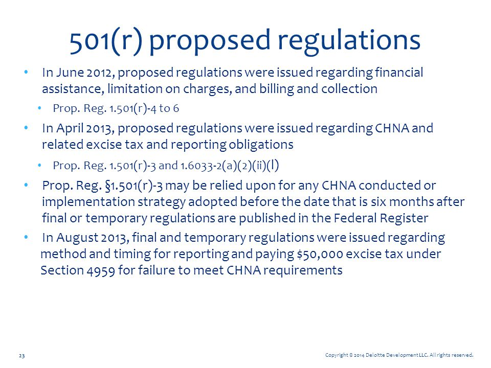 501(r) proposed regulations