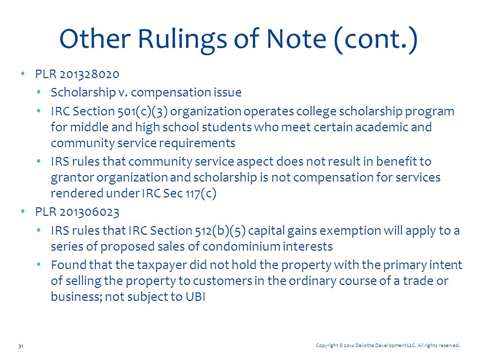 Other Rulings of Note (cont.)