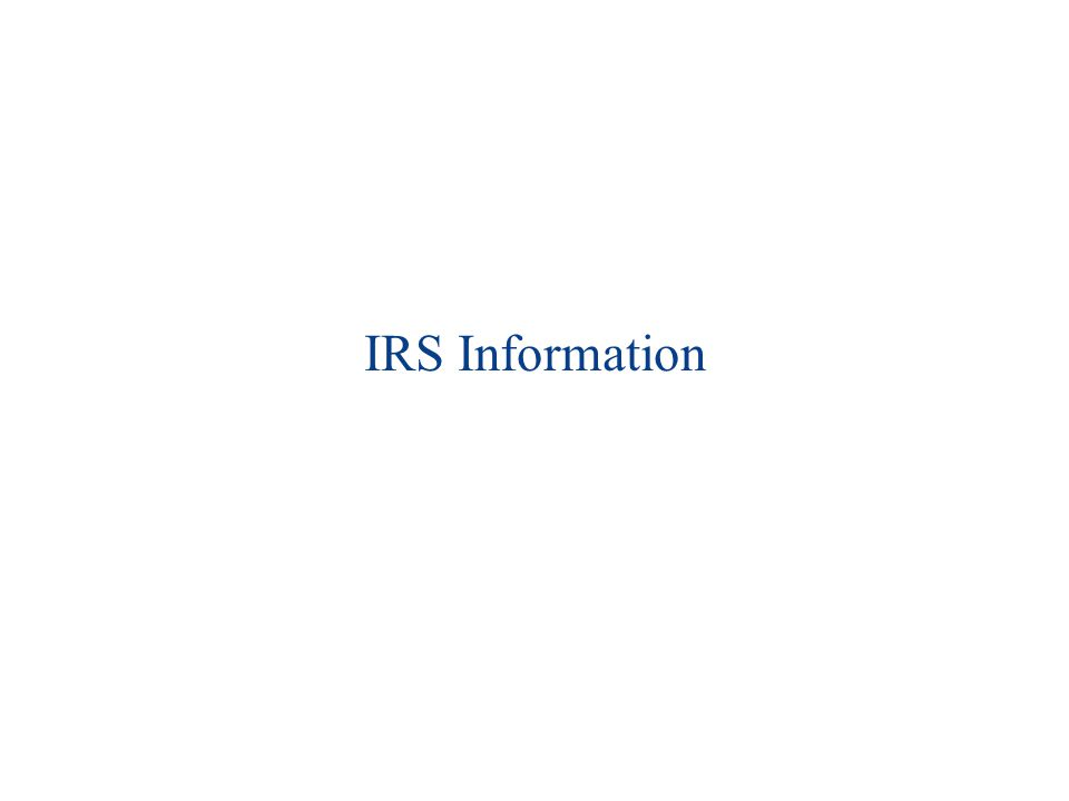 IRS Information