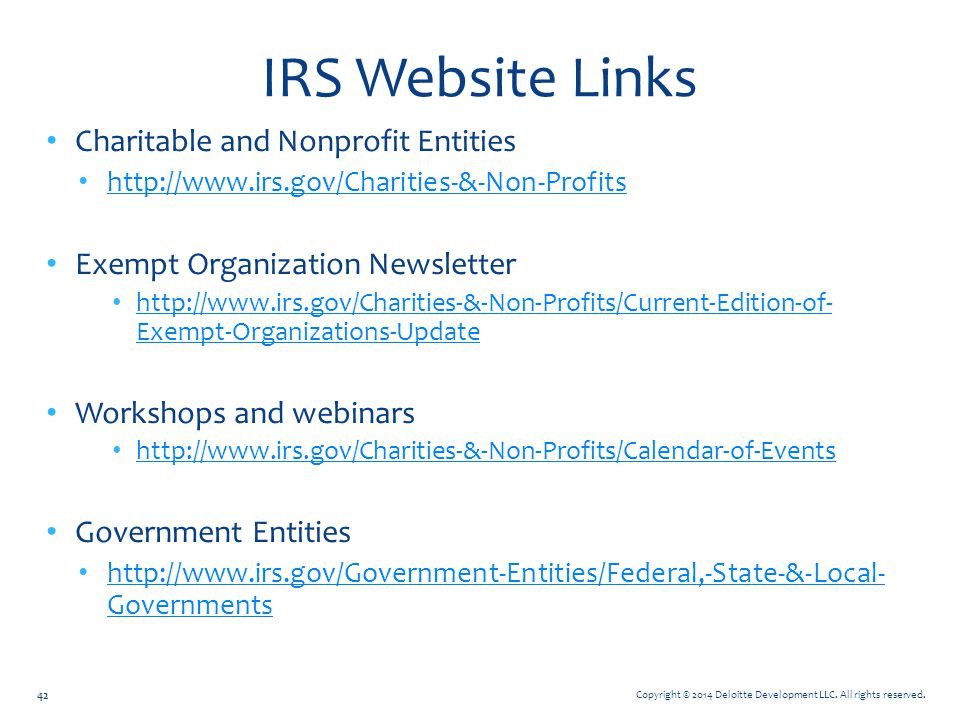 IRS Website Links Charitable and Nonprofit Entities