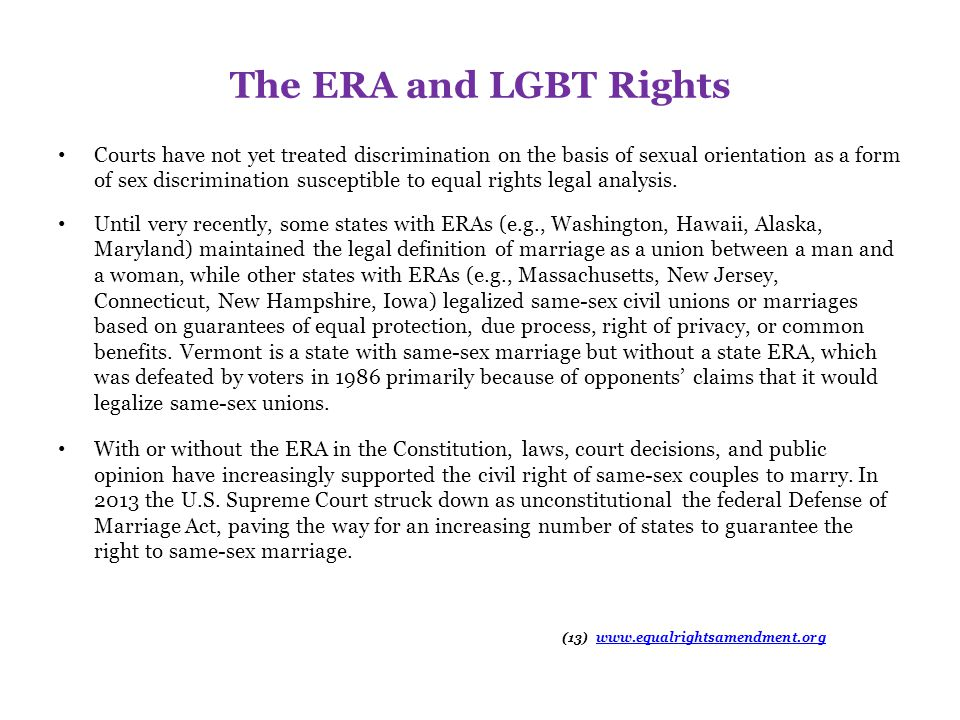 The ERA and LGBT Rights