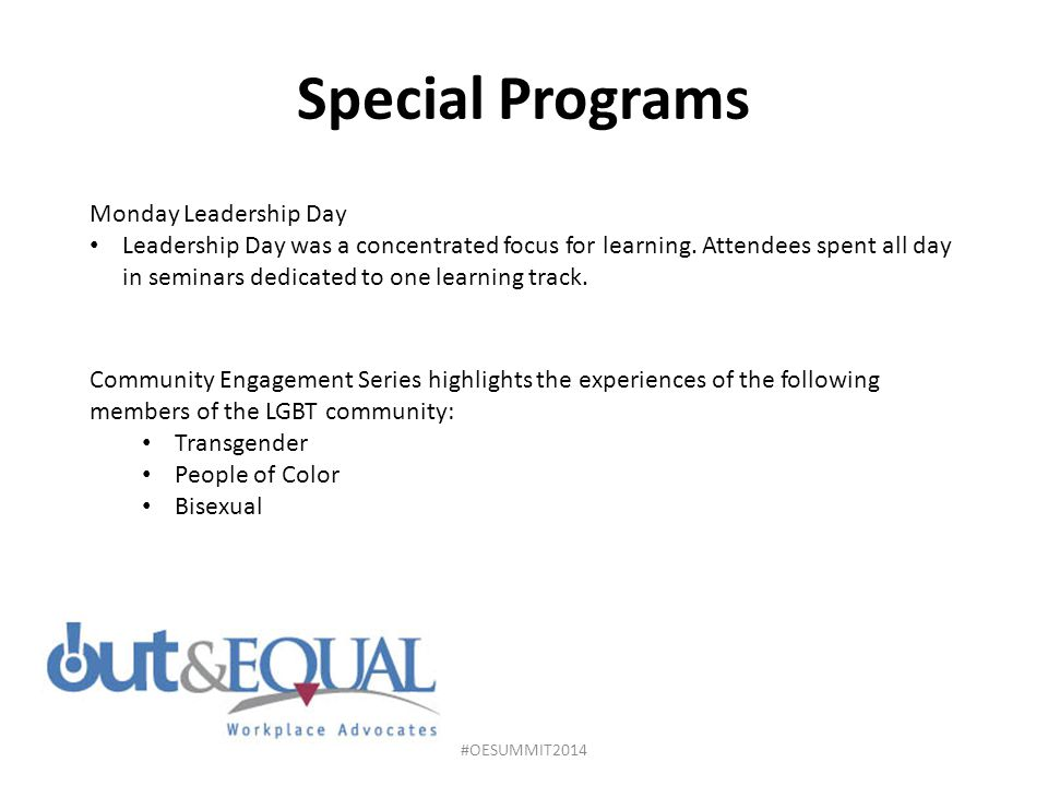 Special Programs Monday Leadership Day