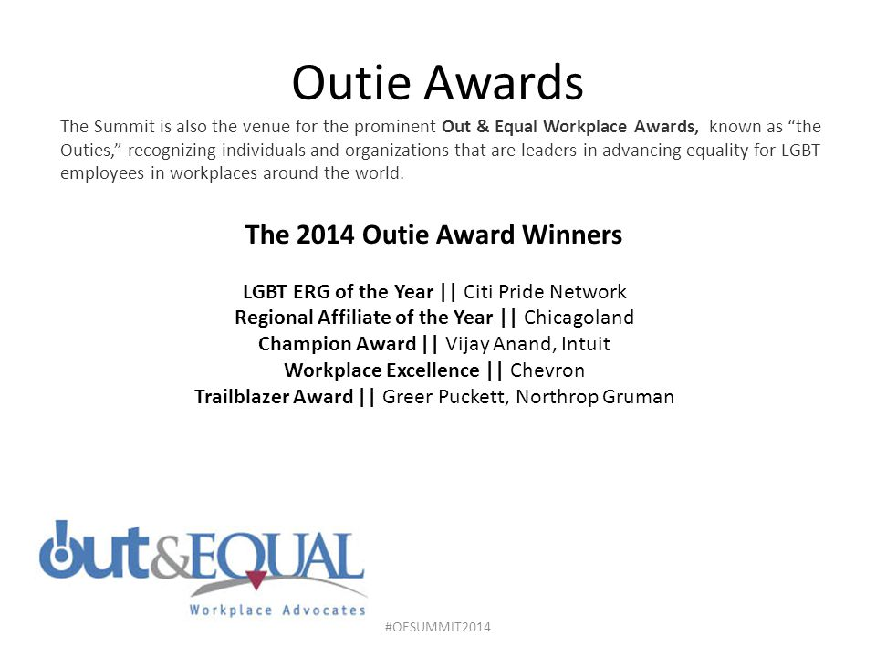 The 2014 Outie Award Winners
