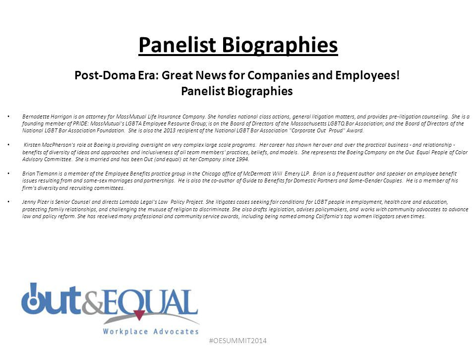 Post-Doma Era: Great News for Companies and Employees!