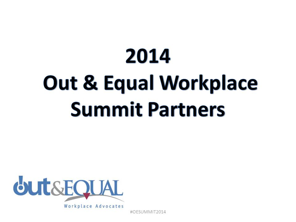2014 Out & Equal Workplace Summit Partners