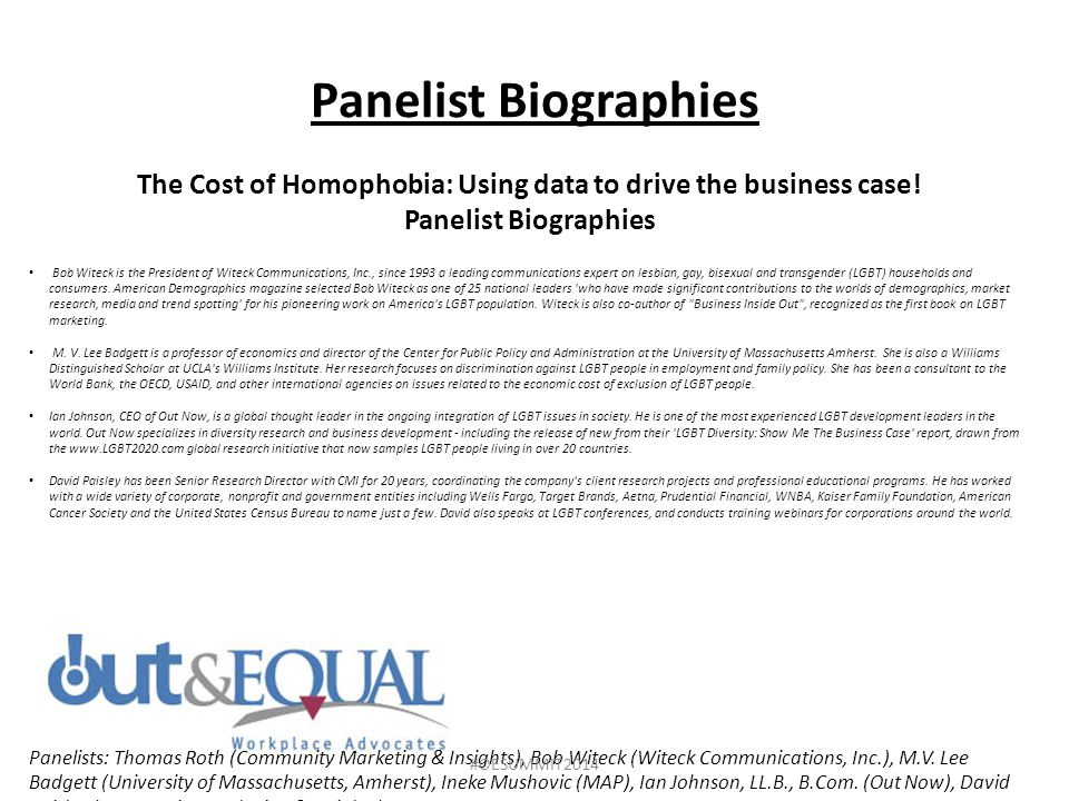 The Cost of Homophobia: Using data to drive the business case!