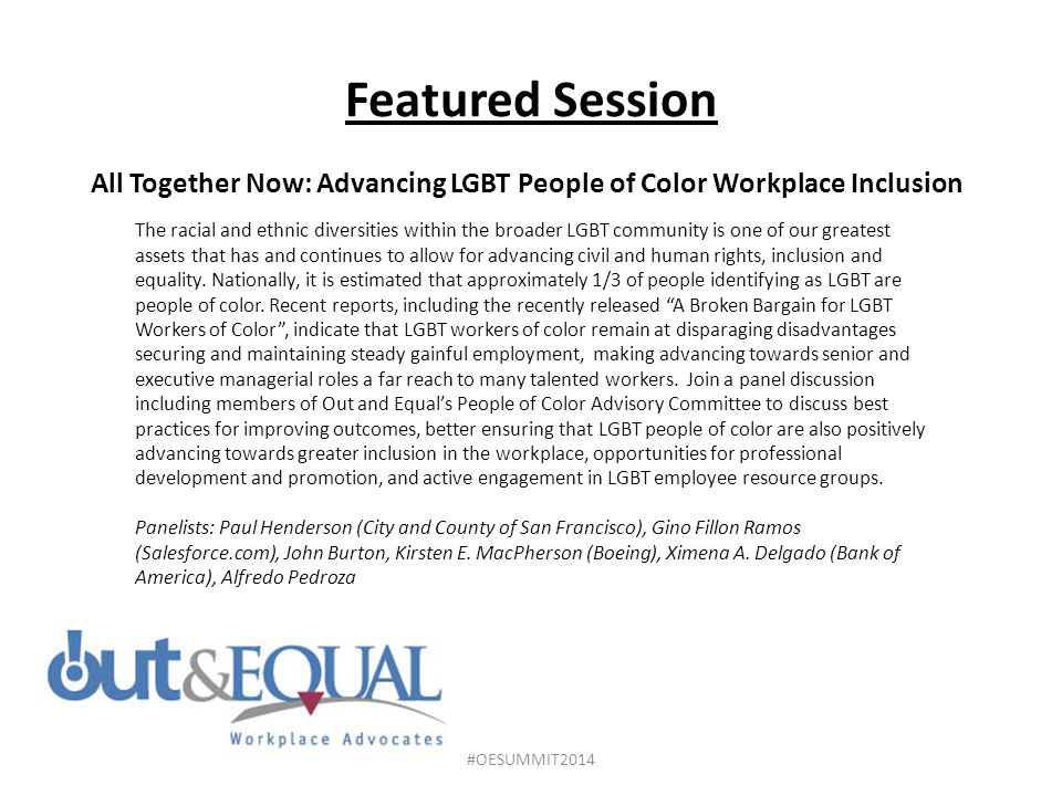 All Together Now: Advancing LGBT People of Color Workplace Inclusion
