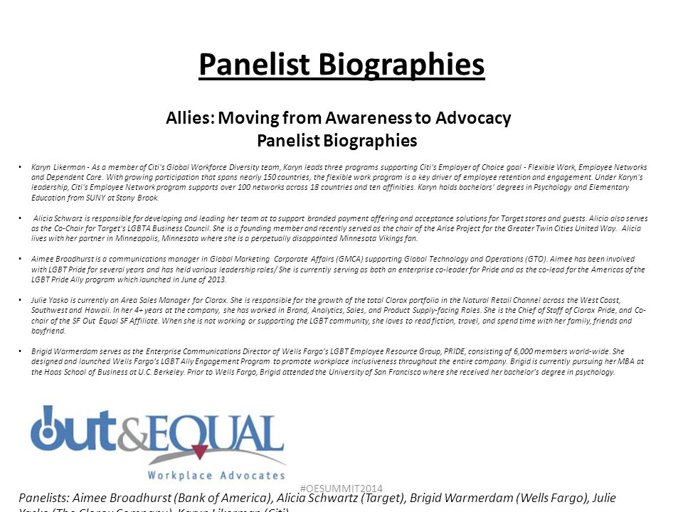 Allies: Moving from Awareness to Advocacy