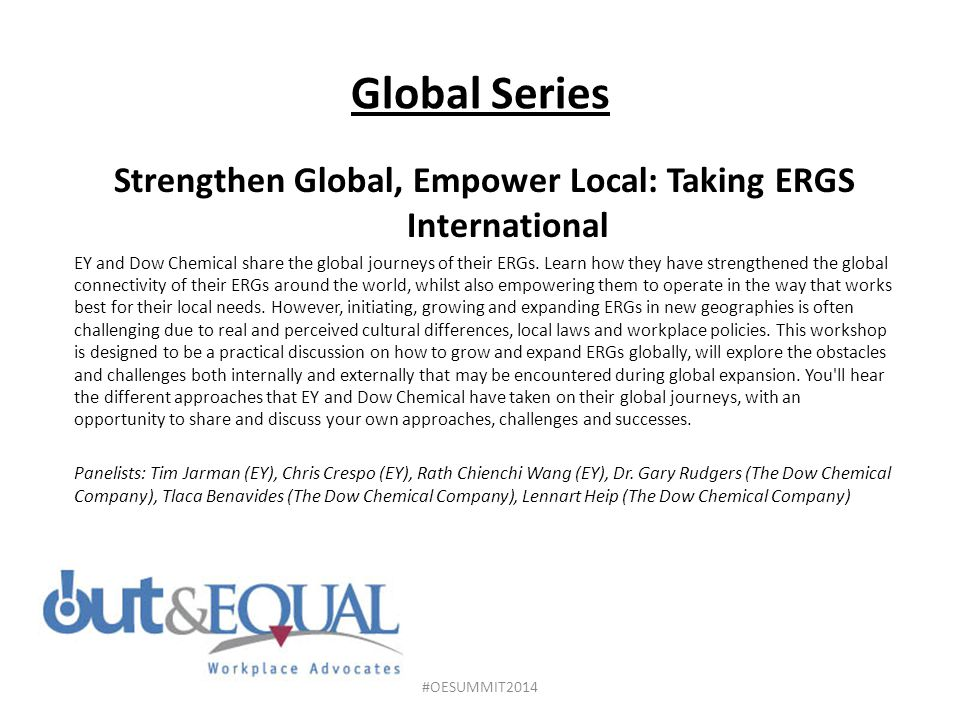 Strengthen Global, Empower Local: Taking ERGS International