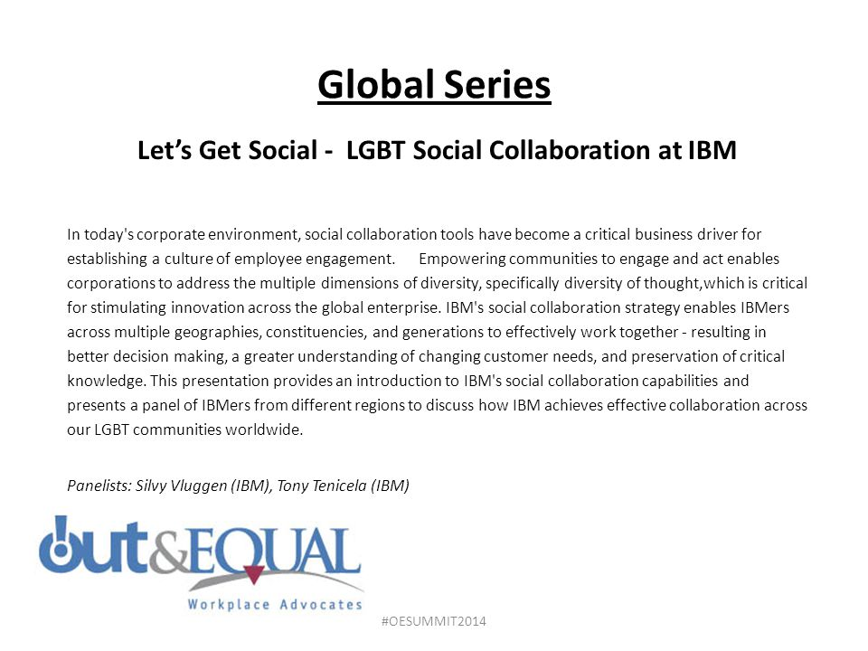 Let's Get Social - LGBT Social Collaboration at IBM