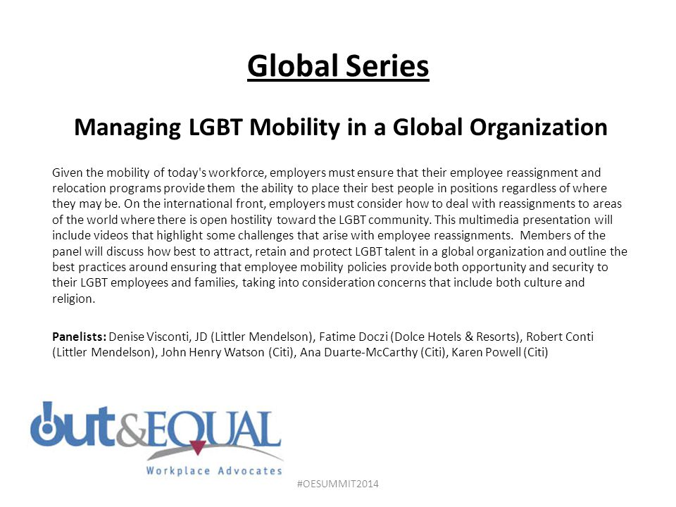 Managing LGBT Mobility in a Global Organization